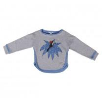 Misty Grey Blue Birdie Sweater