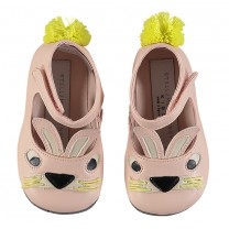 Pink Rabbit Ankle Strap Shoes