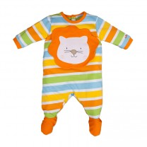 Multi-coloured Lions Head Babysuit