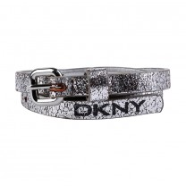 Silver Logo Thin Belt