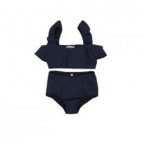 Navy Blue Ruffles Bikini