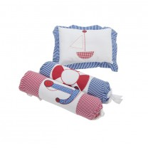 Nautical Baby Pillow Bolster Set