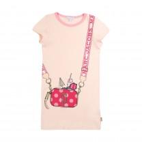 Baby Pink Snapshot Printed Dress