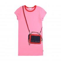 Pink Snapshot Printed Dress
