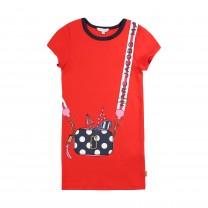 Red Snapshot Printed Dress